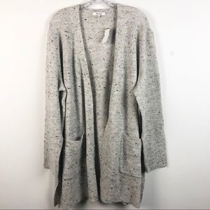 Madewell Gray Smoke Donegal Kent Cardigan Sweater